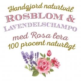 Ros & Lavendelschampo 100% Naturligt