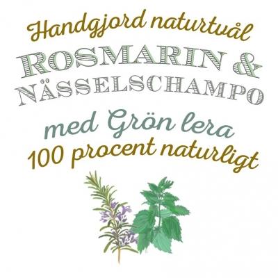 Rosmarin & Nässelschampo 100% Naturligt